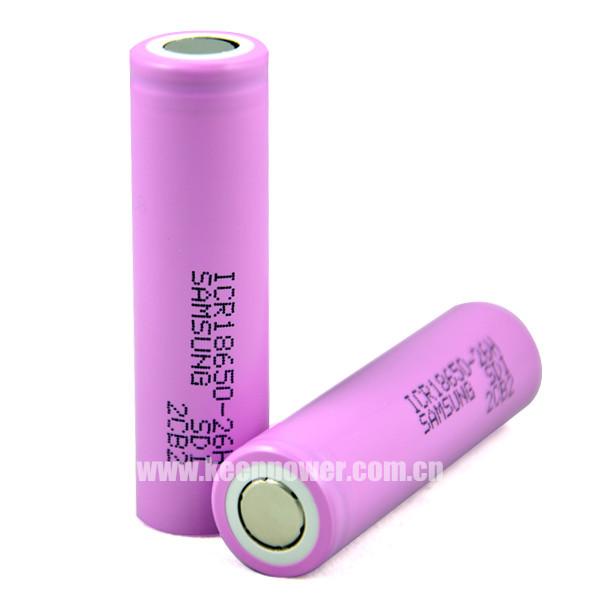 18650 2600mah Samsung Icr18650 26h 3 7v Li Ion Battery